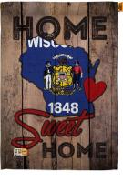 State Wisconsin Home Sweet House Flag