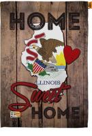 State Illinois Home Sweet House Flag