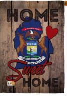 State Michigan Home Sweet House Flag