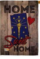 State Indiana Home Sweet House Flag