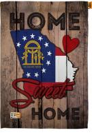 State Georgia Home Sweet House Flag