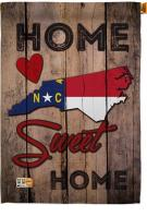 State North Carolina Home Sweet House Flag