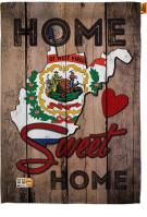 State West Virginia Home Sweet House Flag