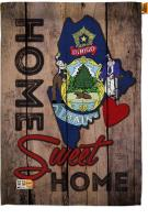 State Maine Home Sweet House Flag