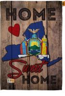 State New York Home Sweet House Flag