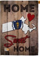 State Massachusetts Home Sweet House Flag