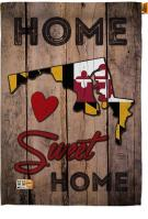 State Maryland Home Sweet House Flag
