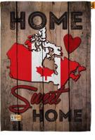 Canada Home Sweet House Flag