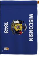 Wisconsin Decorative House Flag