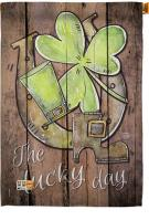 St. Pat\'s The Lucky Day House Flag