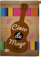 Celebrate Guitarron Cinco de Mayo House Flag