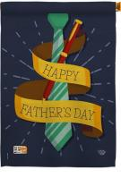 Happy Smartest Dad House Flag