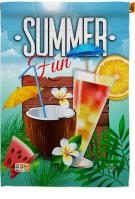 Cool Summer Drinks House Flag