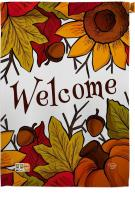 Autumn Welcome House Flag