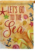 Let\'s Go To The Sea House Flag