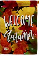 Welcome Autumn Leaves House Flag