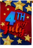 4th Of July Stars House Flag