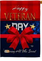 Happy Veteran Day Decorative House Flag