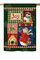 Joy Snow Woman House Flag