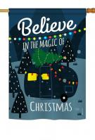 Believe The Magic Trailer House Flag