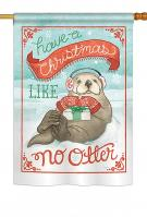 Christmas Like No Otter House Flag