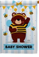 Baby Bear Shower House Flag
