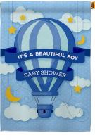 Baby Shower Boy House Flag