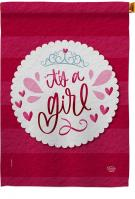 It\'s A Girl Decorative House Flag