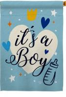It\'s A Boy Decorative House Flag