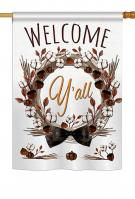 Welcome Y\'ll Cotton Reef House Flag