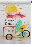 Summer Time Ice Cream House Flag