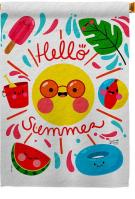 Hello Summer Decorative House Flag