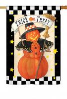 Jack-O-Lantern Witch House Flag
