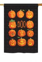 Pumpkins Boo House Flag