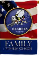US Seabees Family Honor House Flag