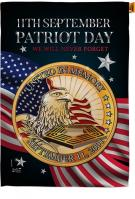 Patriot Day 911 House Flag