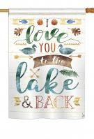 Love You To The Lake House Flag