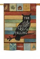 The Wild Is Calling House Flag