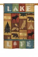 Lake Life House Flag