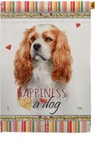 Cavalier King Spaniel Happiness House Flag