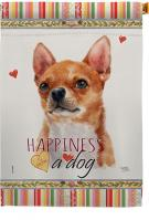 Shorthair Chihuahua Happiness House Flag