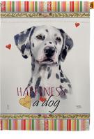 Dalmatian Happiness House Flag