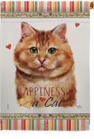 Brown Dilute Calico Happiness House Flag