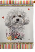 Bichon Frise Happiness House Flag