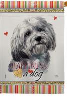 Havanese Happiness House Flag