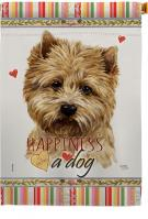 Cairn Terrier Happiness House Flag