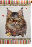 Maine Coon Happiness House Flag
