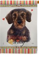 Miniature Dachshund Happiness House Flag