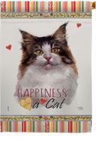 Norwegian Forest Happiness House Flag