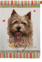 Norwich Terrier Happiness House Flag